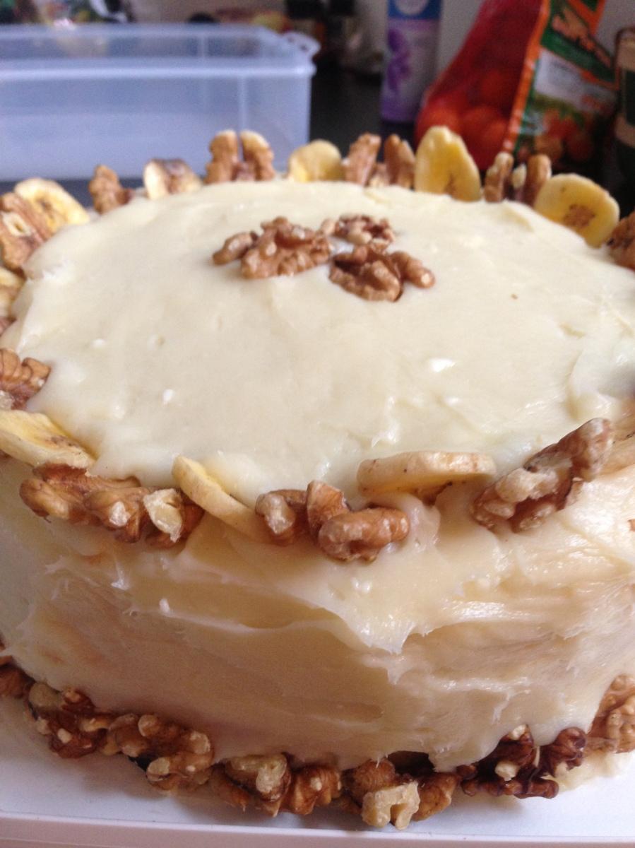 Monkey Cake (Double Banana Cake) | Chelsweets