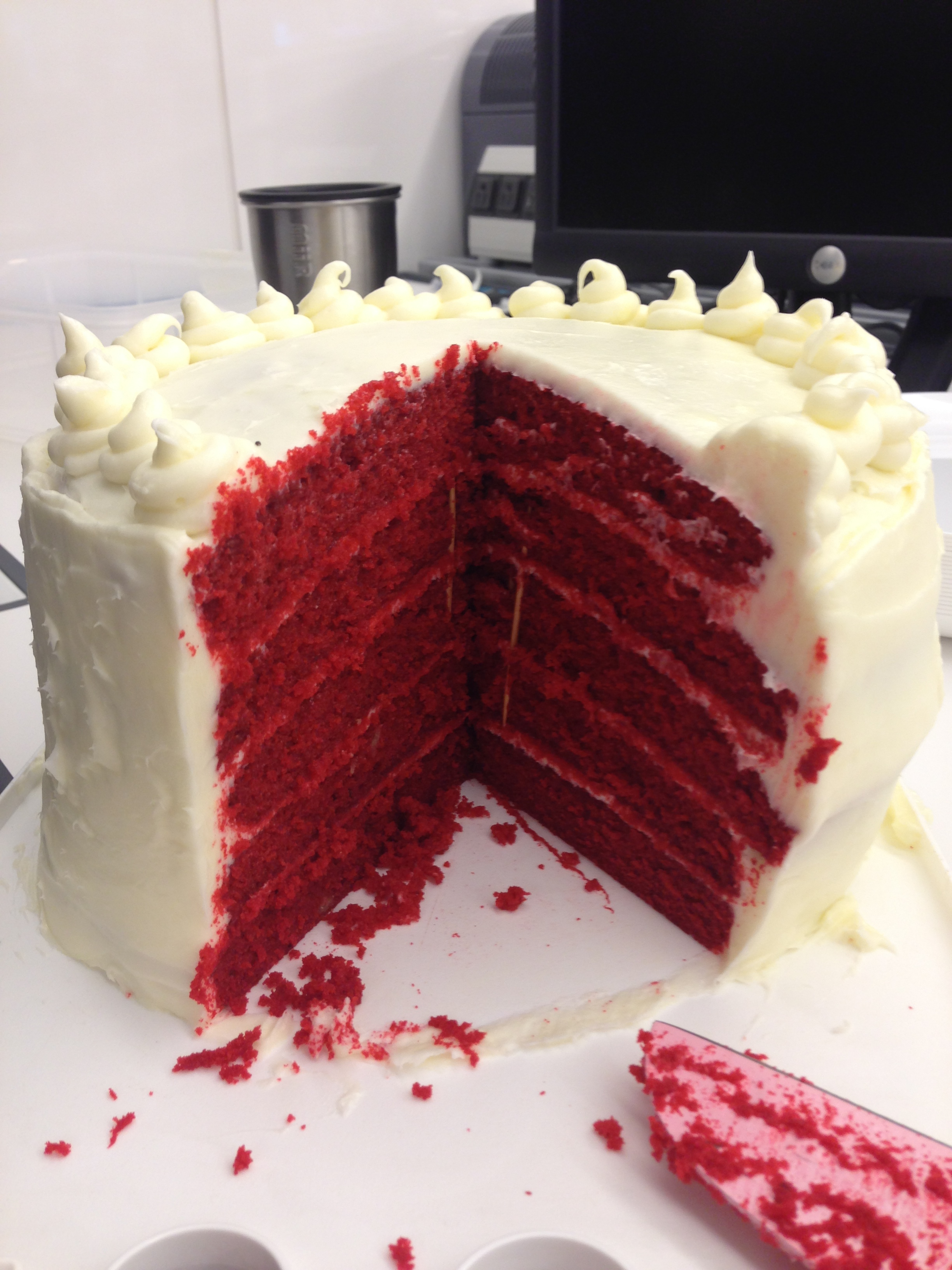 Five Layer Red Velvet Cake | Chelsweets
