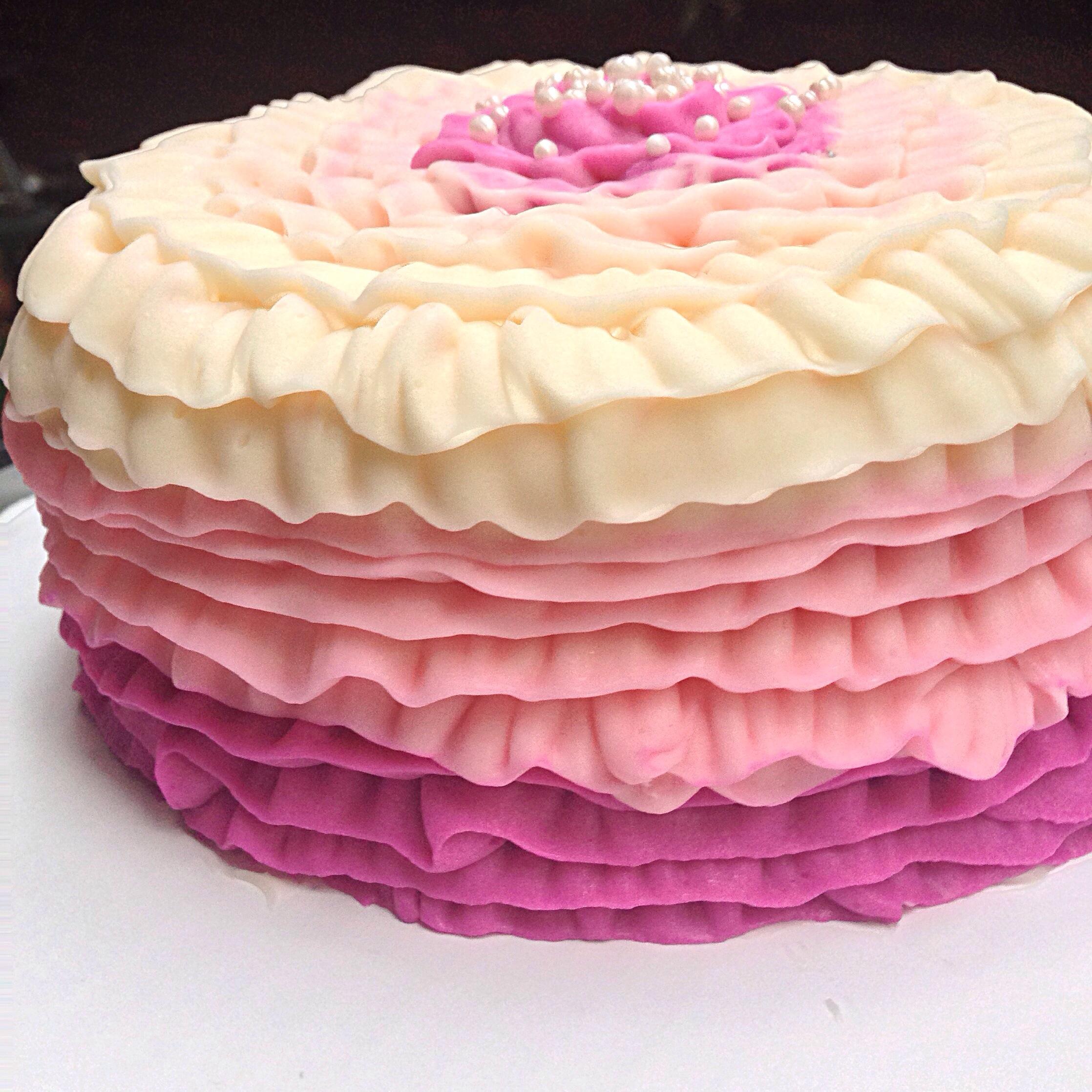 Gluten free chelsweets pink velvet ruffle cake negle Images