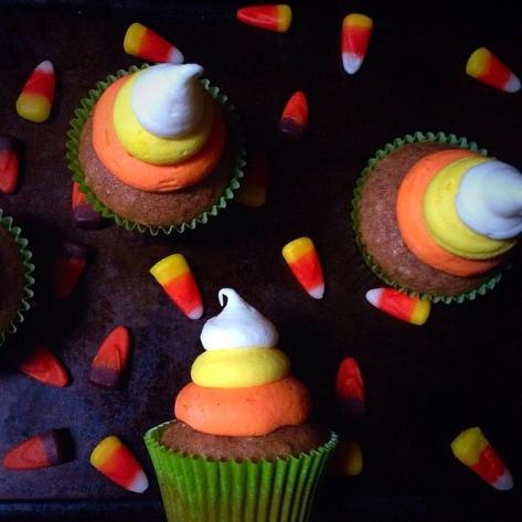 candycorn cupcake