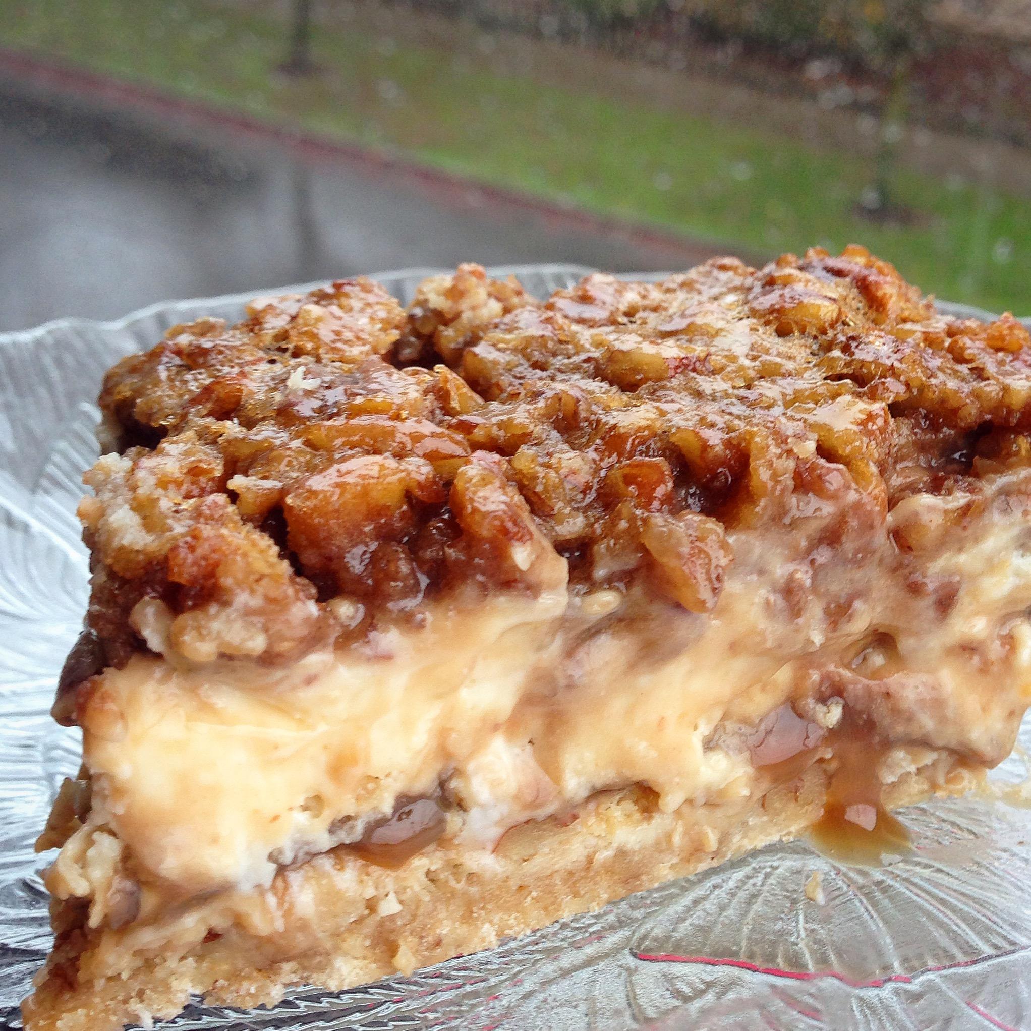 Pecan Pie Cheesecake Squares | Chelsweets