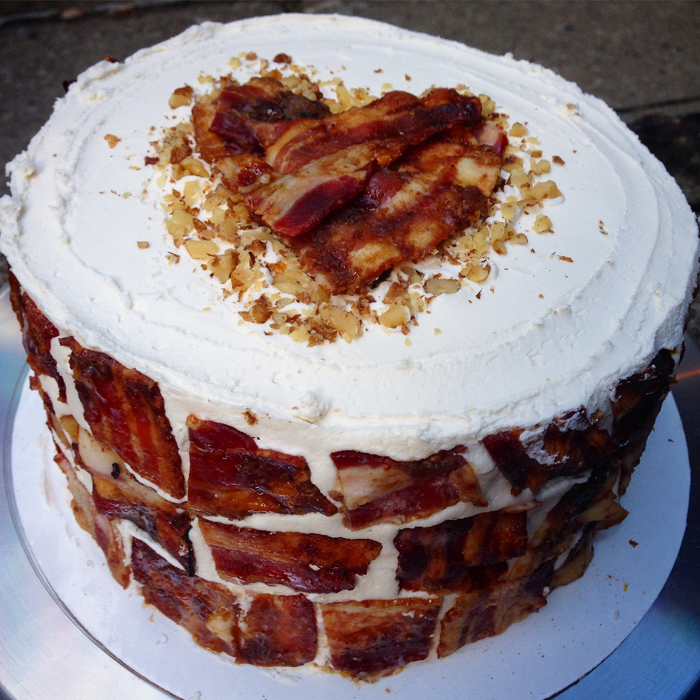 The Maple Bacon Breakfast Birthday Cake | Chelsweets