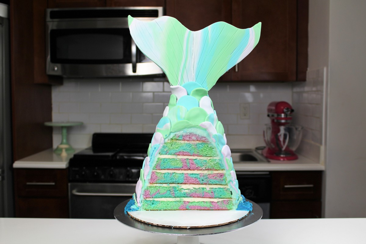Chelsweets Pastel Mermaid Tail Cake Chelsey White