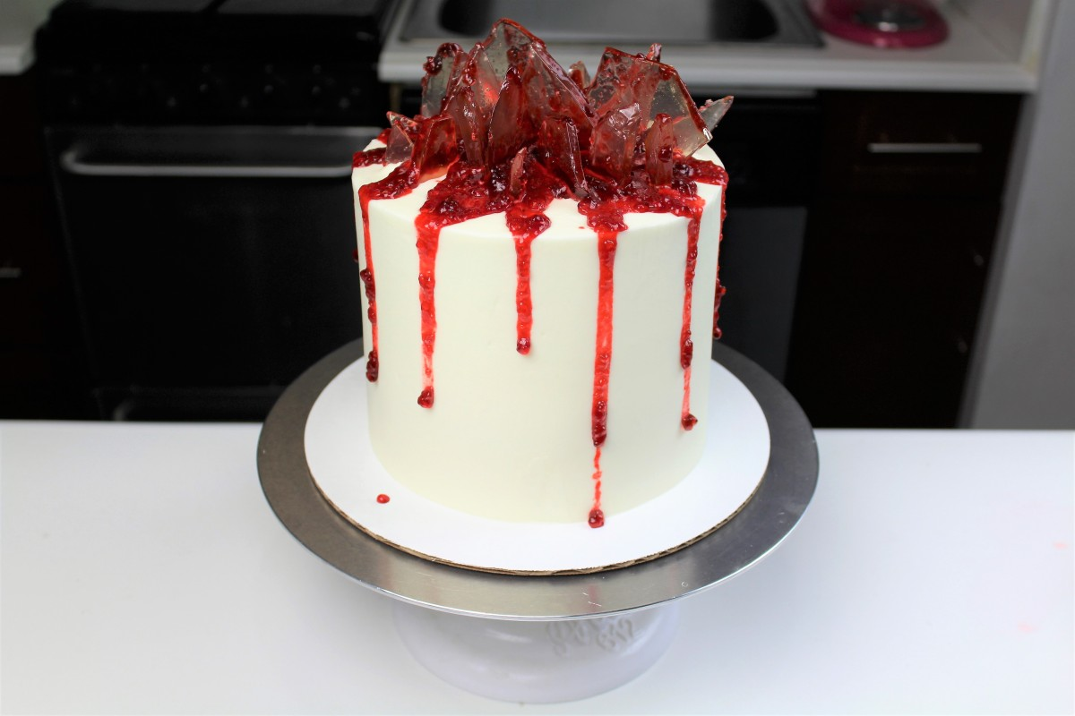 Chelsweets Shattered Glass Cake Chelsey White