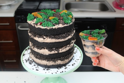 dirt cup cake - with dirt cup